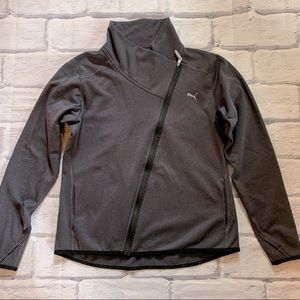 Puma asymmetrical zip front sweatshirt sz L